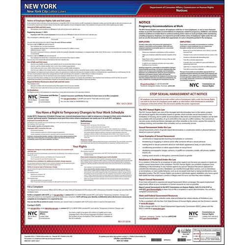 New York City Employment Laws Poster (08911)