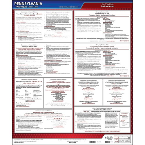 Pennsylvania / Philadelphia Code Poster (08678)