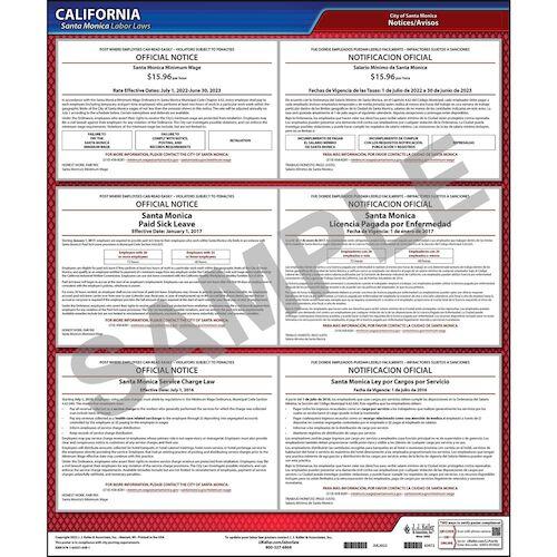 California / Santa Monica Hospitality Worker Poster (012517)