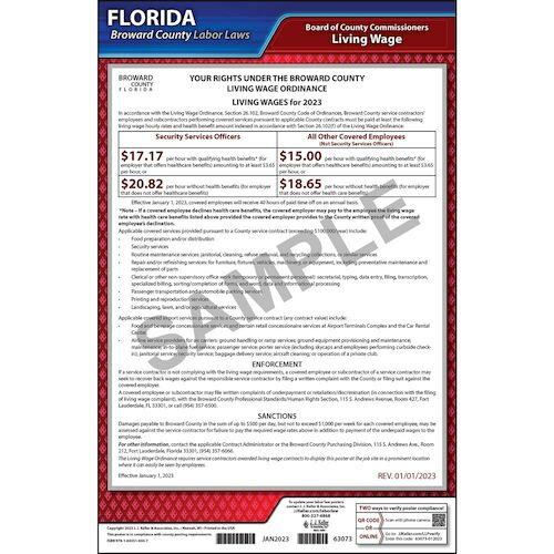 Florida / Broward County Living Wage Poster (08907)