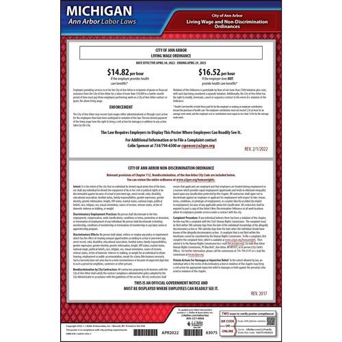 Michigan / Ann Arbor Municipal Code Poster (012523)