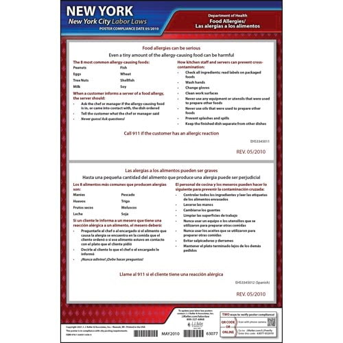 New York / New York City Food Service Poster (012538)