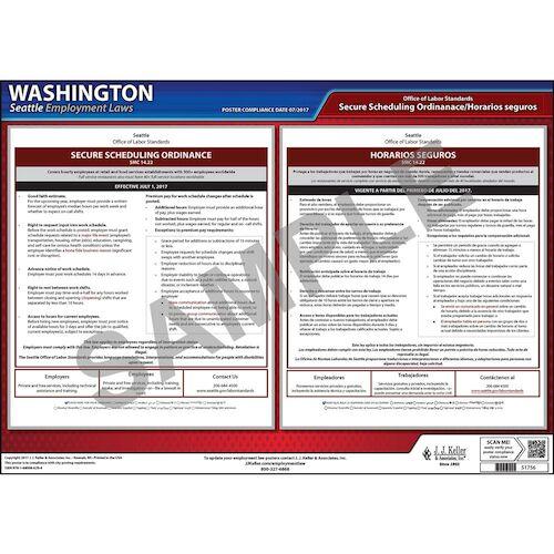 Washington / Seattle Secure Scheduling Ordinance Poster (013117)