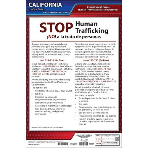 California STOP Human Trafficking Poster (07331)
