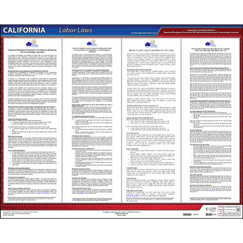 California / Cosmetology Worker Rights Poster (013116)