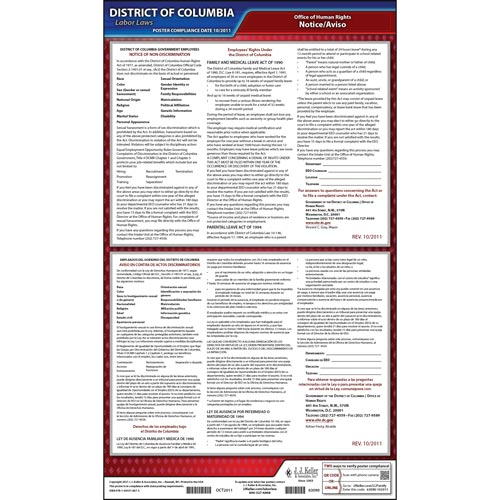District of Columbia Notice of Non-Discrimination Poster (04936)
