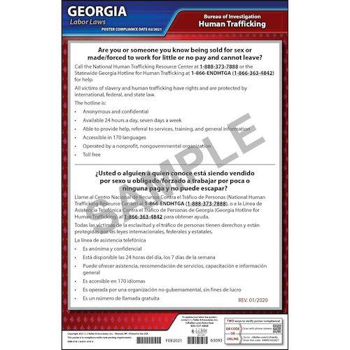 Georgia Human Trafficking Poster (013235)