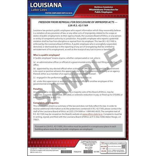 Louisiana Whistleblower Poster (04944)