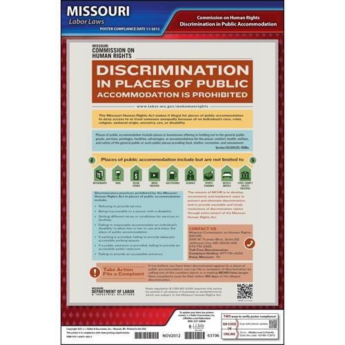 Missouri Discrimination in Public Accommodations Poster (04952)