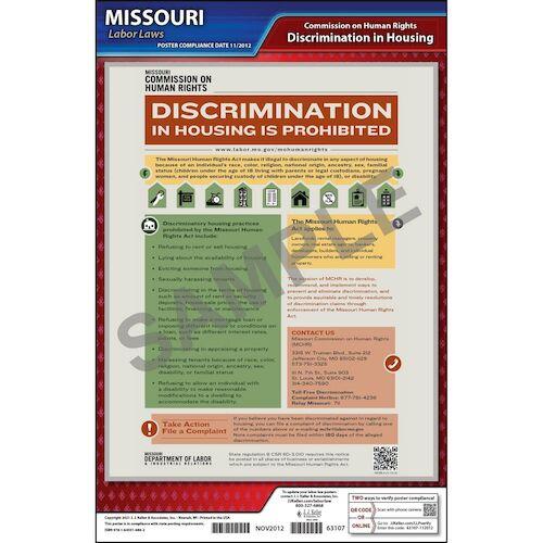 Missouri Discrimination in Housing Poster (04953)