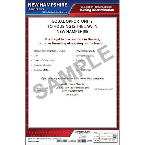 New Hampshire Fair Housing Poster (015759)