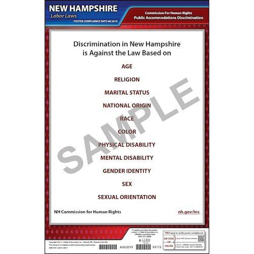 New Hampshire Public Accommodation Discrimination Poster (015758)