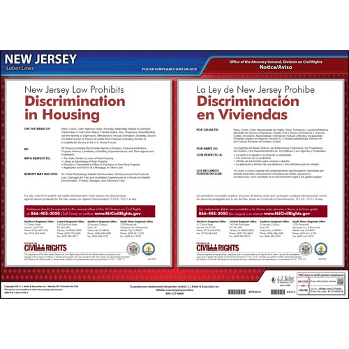 New Jersey Discrimination in Housing Poster (04956)