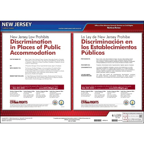 New Jersey Discrimination in Public Accommodations Poster (04957)