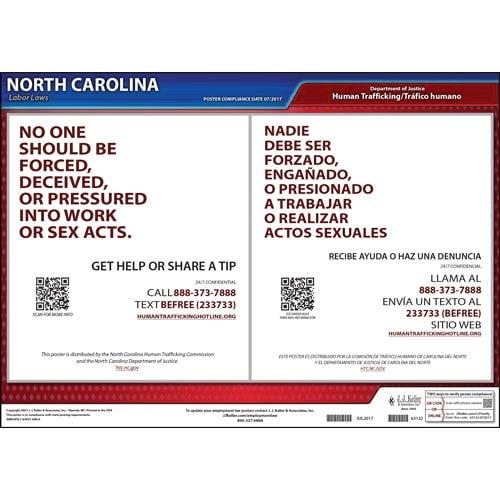 North Carolina Human Trafficking Poster (014363)