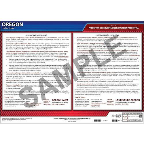 Oregon Employee Work Schedules Poster (014140)
