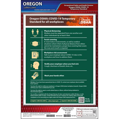 Oregon COVID-19 Poster For All Workplaces (017797)