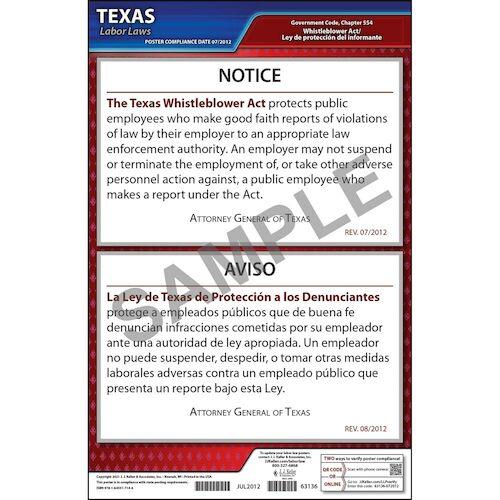 Texas Whistleblower Poster (04974)