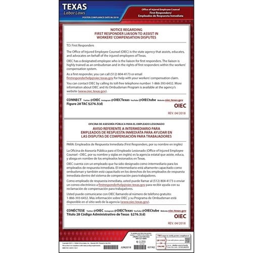 Texas First Responder Liaison Poster (014540)