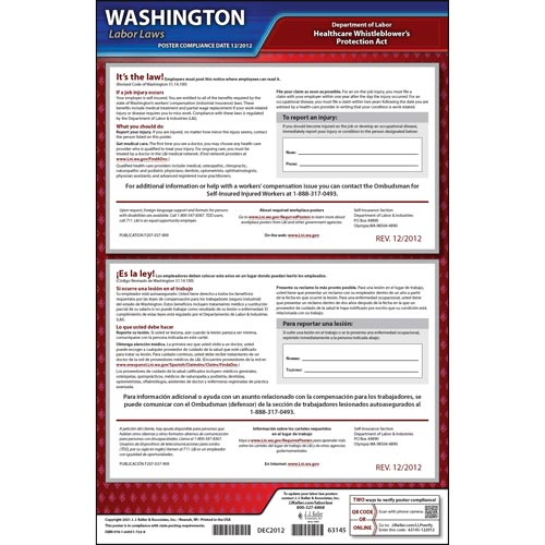 WA Notice to Employees-If Self Insured/ Ombudsman (04979)