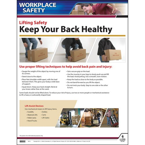 Backlifting Safety Instructional Chart (01787)