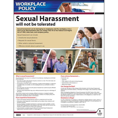 Sexual Harassment Policy Poster (00396)