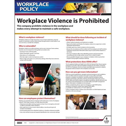 Workplace Violence Policy Poster (02043)