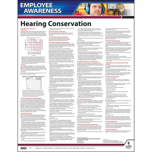 Hearing Conservation Employee Awareness Poster (05004)