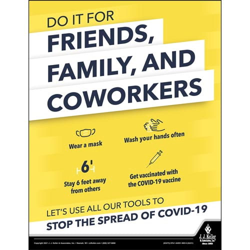 Stop The Spread of Coronavirus (COVID-19) By Getting Vaccinated Safety Poster (017926)
