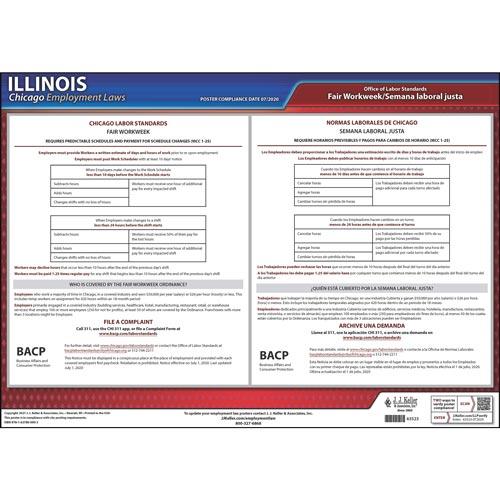 Chicago / Illinois Fair Workweek Poster (017934)