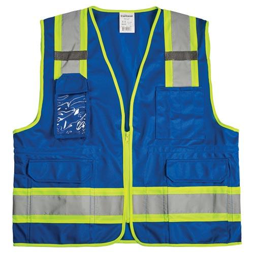 J. J. Keller® SAFEGEAR® Colored Safety Vest - Zipper Closure (017948)