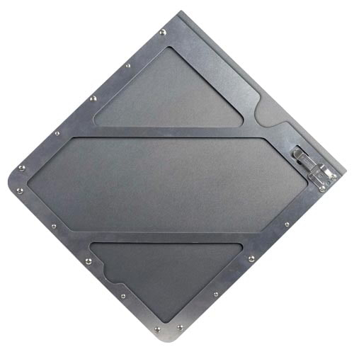 Universal Aluminum Placard Holder with Back Plate (017885)