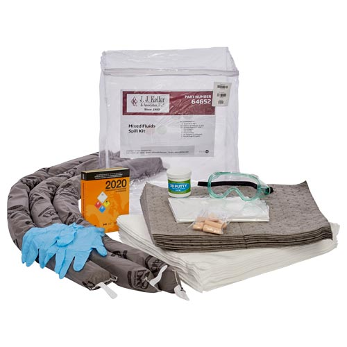 10.6-Gallon Mixed Fluids Truck Spill Kit with Wooden Plugs & Putty - Universal & Oil-Only (018317)