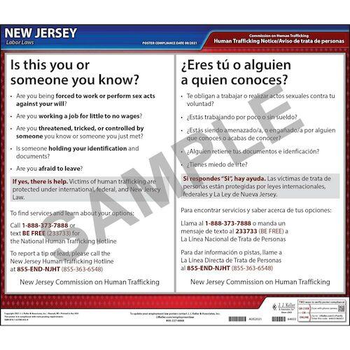 New Jersey Human Trafficking Poster (018406)