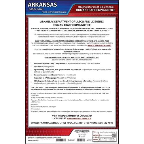 Arkansas Human Trafficking Poster (018408)