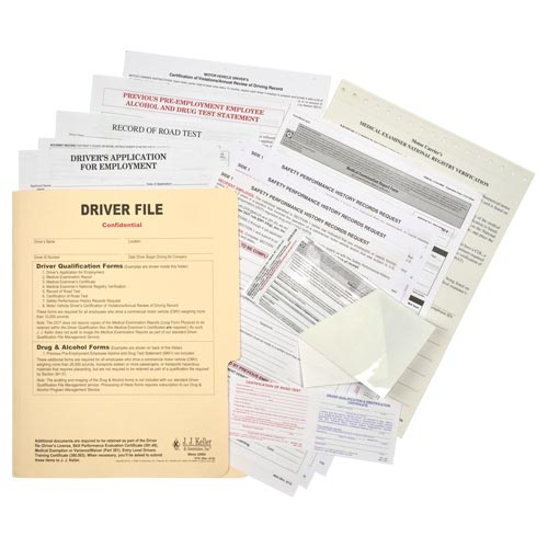 Driver Qualification File - Services Edition (01450)