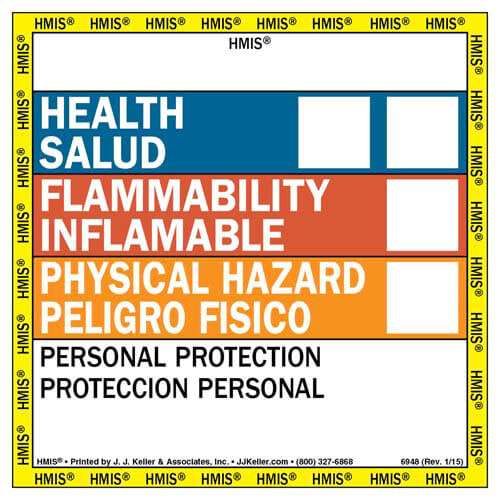 Bilingual HMIS® III Label (00755)