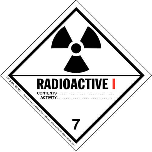 Class 7 Radioactive I Labels (00050)