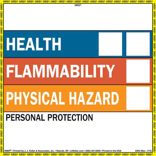 HMIS® III Label - Single Sheet (00742)