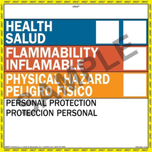 Bilingual HMIS® III Label - Vinyl (00758)