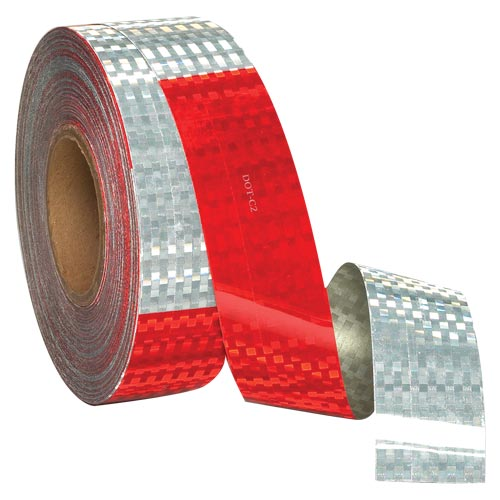 "Conspicuity Tape Rolls for Trailers - 11"" Red / 7"" White, Avery Dennison, 5-Year Warranty (03927)"