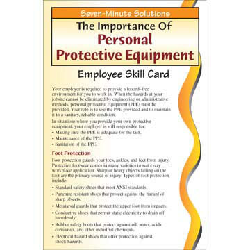 7-Minute Solutions for Construction: Personal Protective Equipment - Skill Cards (00904)