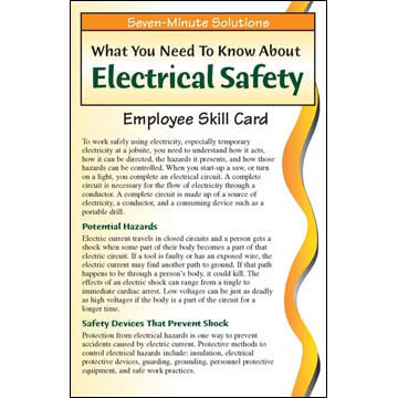 7-Minute Solutions for Construction: Electrical Safety - Skill Cards (03270)