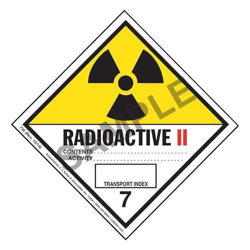 Class 7 Radioactive II Labels (01395)