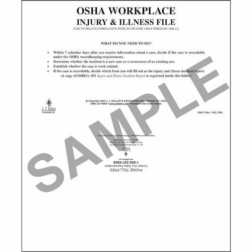 Workplace Injury & Illness File Folder (01252)