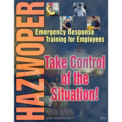 HAZWOPER Emergency Response Training for Employees - Awareness Poster (00278)