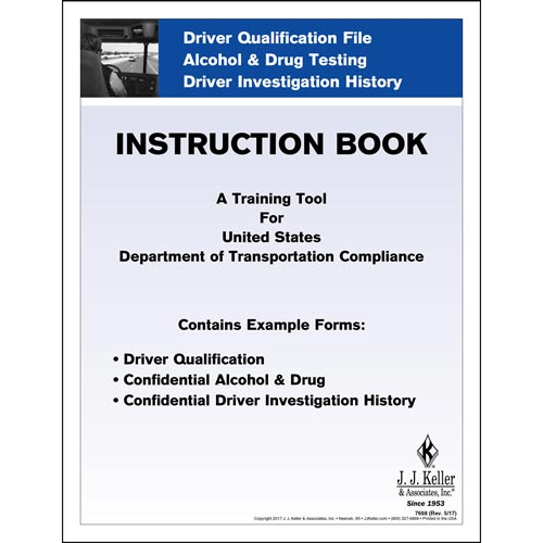 Driver Qualification File Instruction Booklet (00067)
