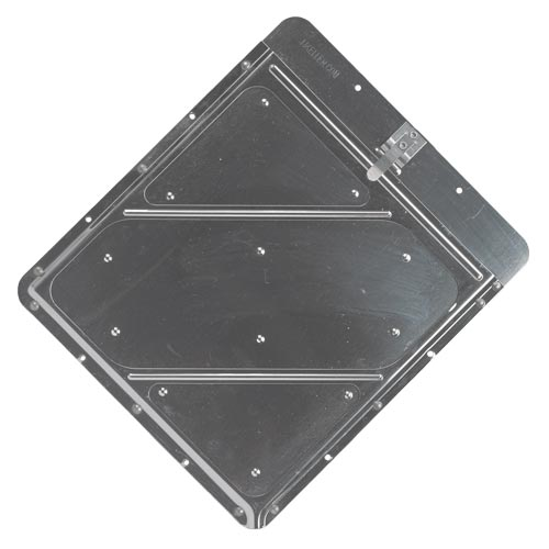 Riveted Aluminum Placard Holder w/Back Plate (02384)