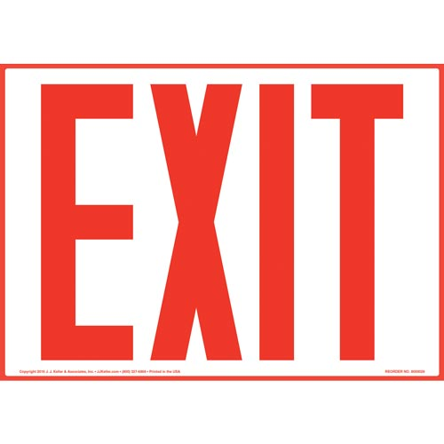 Exit Sign - Red Text (09834)