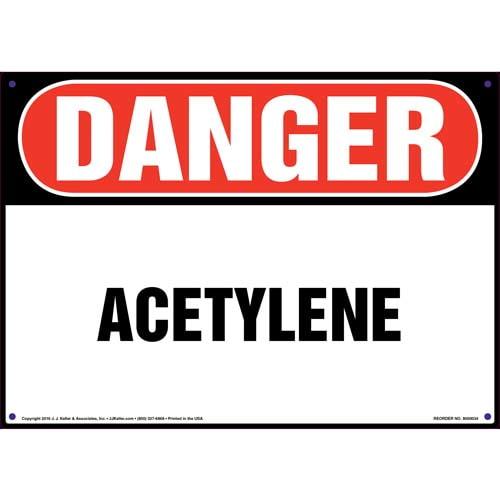 Danger: Acetylene Sign - OSHA (09839)